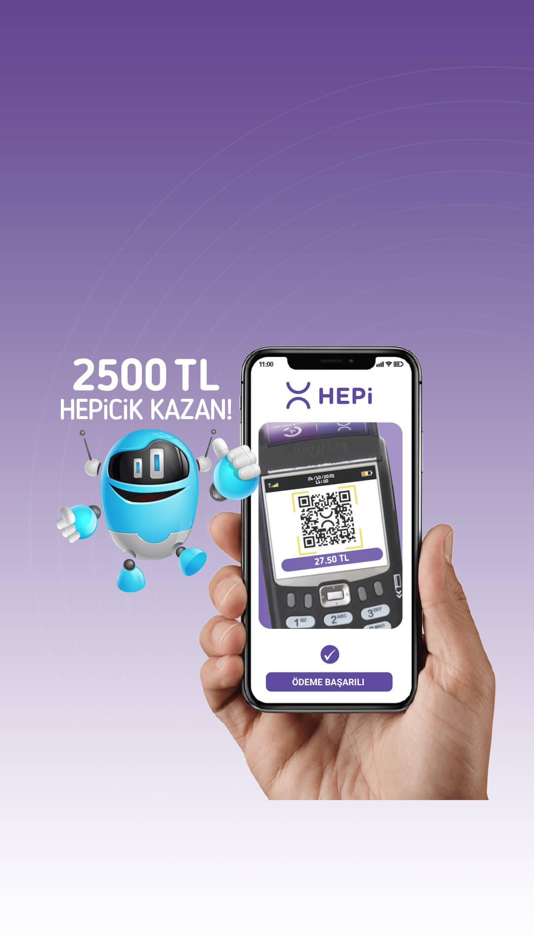 Mobil Cüzdanına Para Yükle, Alışveriş Yap 2500TL HEPiCiK Kazan!