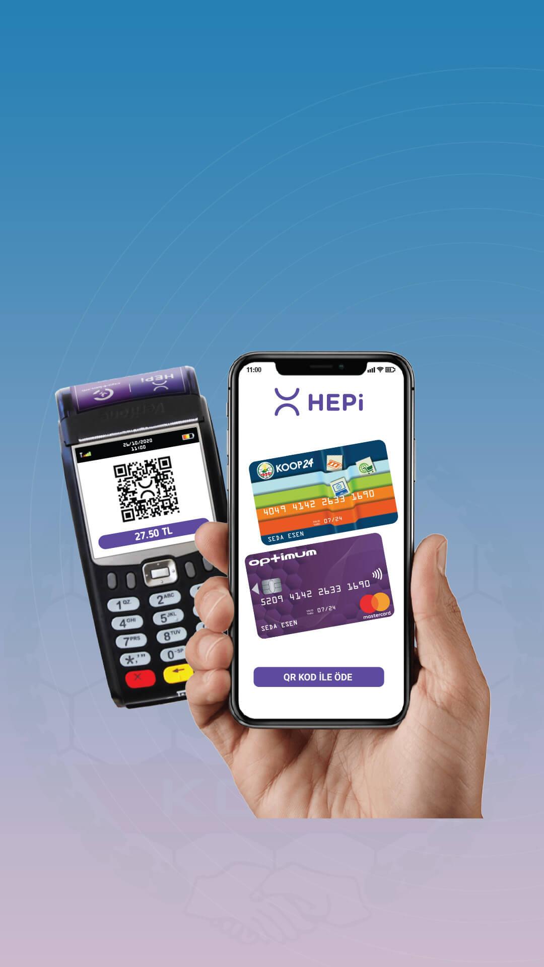 Optimum ve Koop24 kartlarını tanımla, QR Kodu ile Temassız Ödemeye Başla.