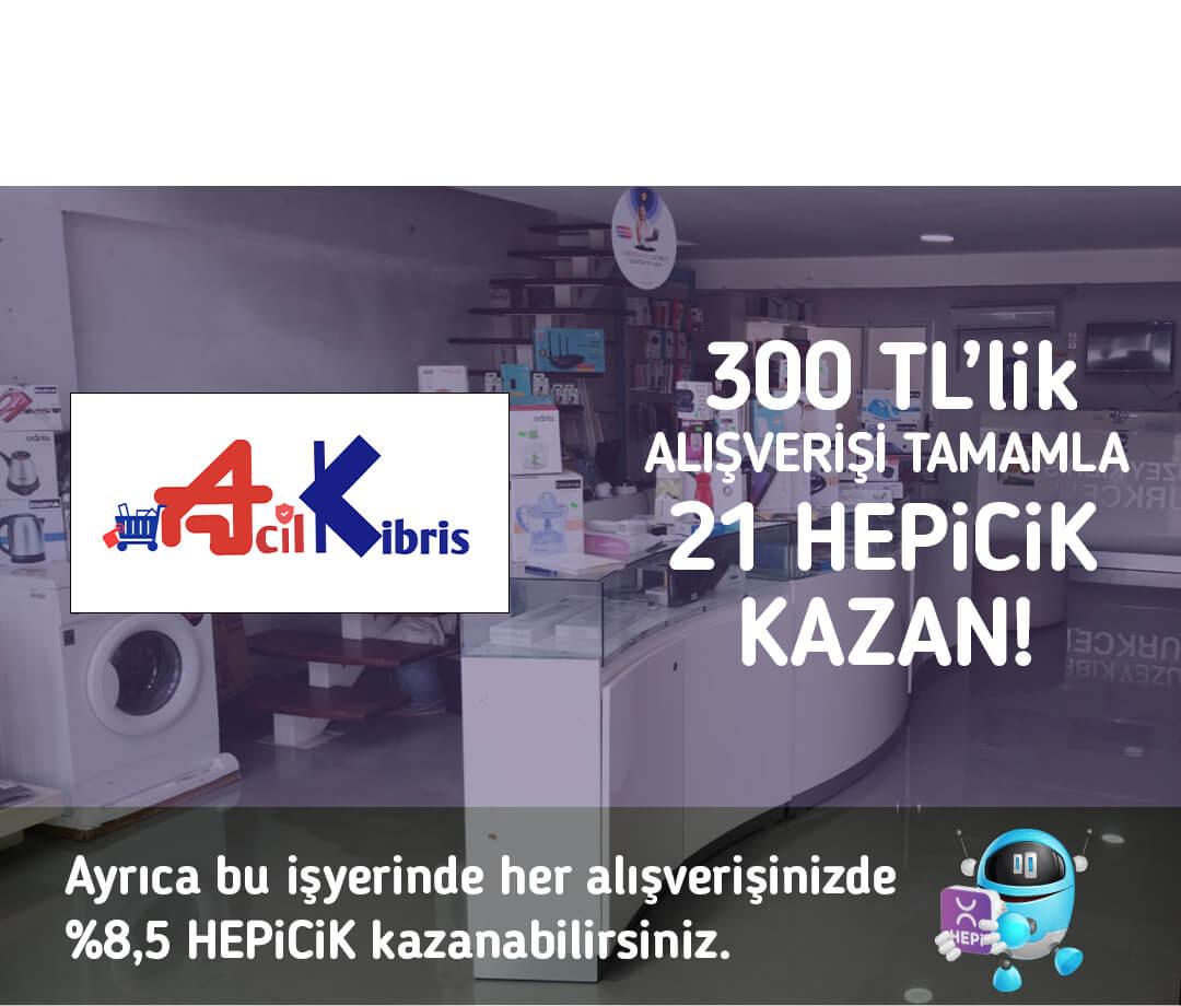 300 TL'lik alışverişi tamamla 21 TL HEPiCiK kazan!