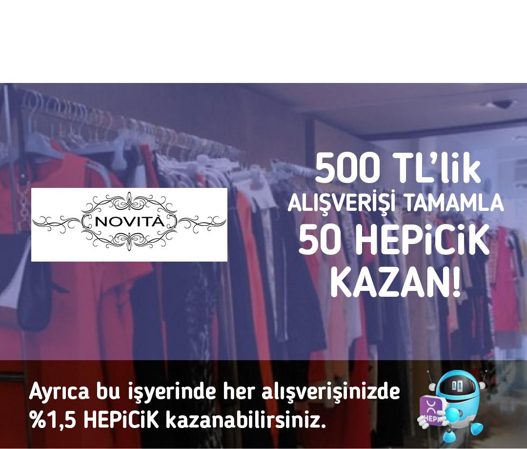 500 TL'lik alışverişi tamamla 50 TL HEPiCiK kazan!